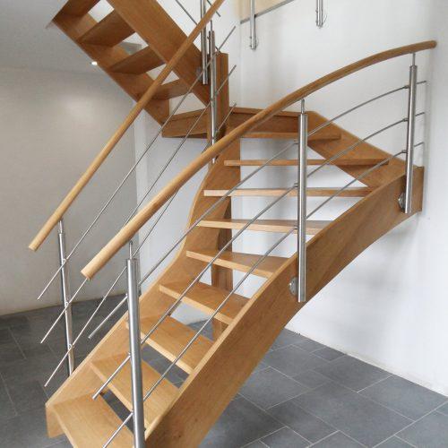 Escalier sur-mesure en chêne