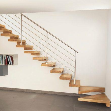 Escalier sur-mesure, bois et métal